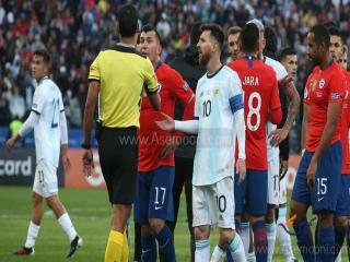 کوپا آمه ریکا ؛ دیدار رده بندی ؛ مسی اخراج شد ، آرژانتین از شیلی انتقام گرفت