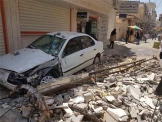 برپایی چادرهای اسکان اضطراری در بیمارستان 22 بهمن مسجد سلیمان