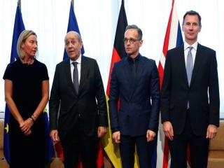 بیانیه فرانسه، آلمان و ان درباره کاهش تعهدات ایران