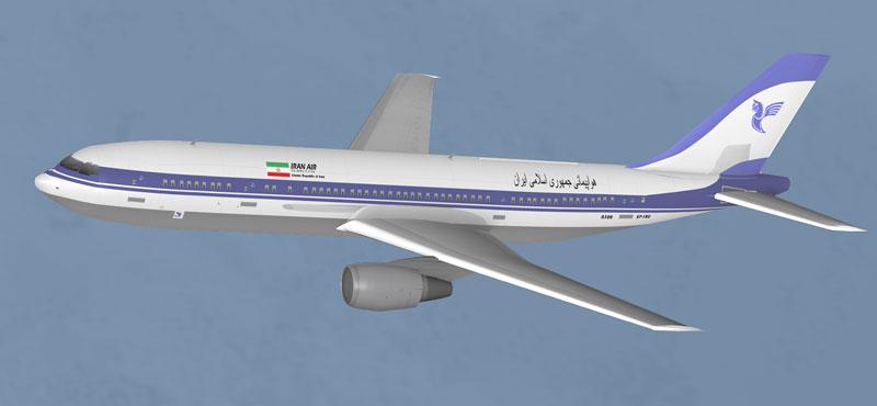 تصویر مجازی هوپیمای پرواز 665