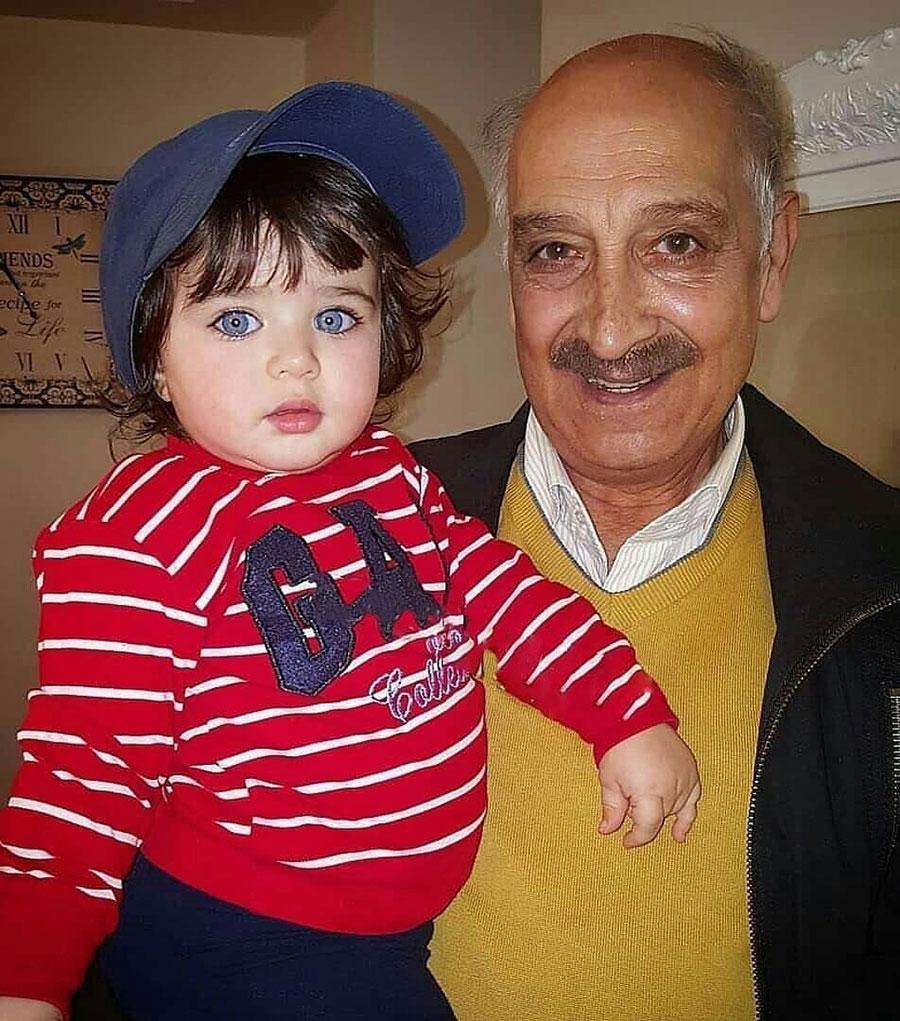 عکس نوه ی چشم رنگی و زیبای محمود پاک نیت