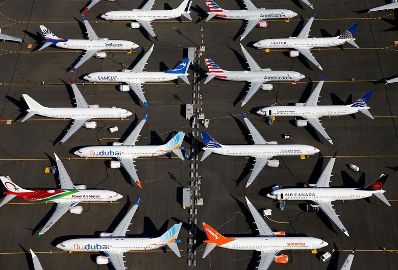 هواپیماهای زمینگیر شده بوئینگ مکس737 در شهر سیاتل ایالت واشنگتن آمریکا