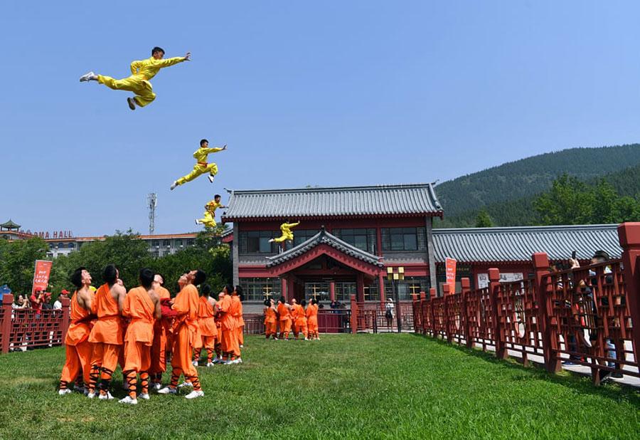 نمایش هنرهای رزمی در چین