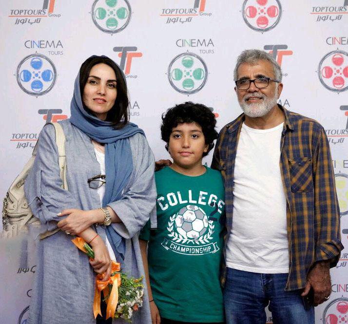 بهروز افخمی همراه پسر و همسرش