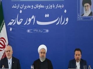 رئیس جمهور در وزارت خارجه : ظریف مجتهد سیاسی است