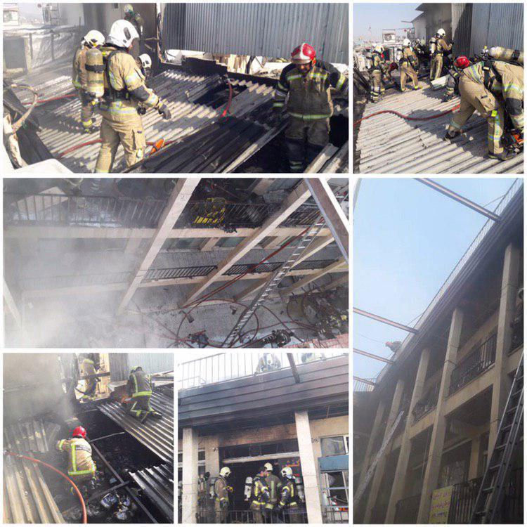 آتش سوزی در بازار تهران - Fire in Tehran market