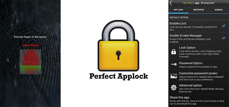 تصاویر Perfect AppLock
