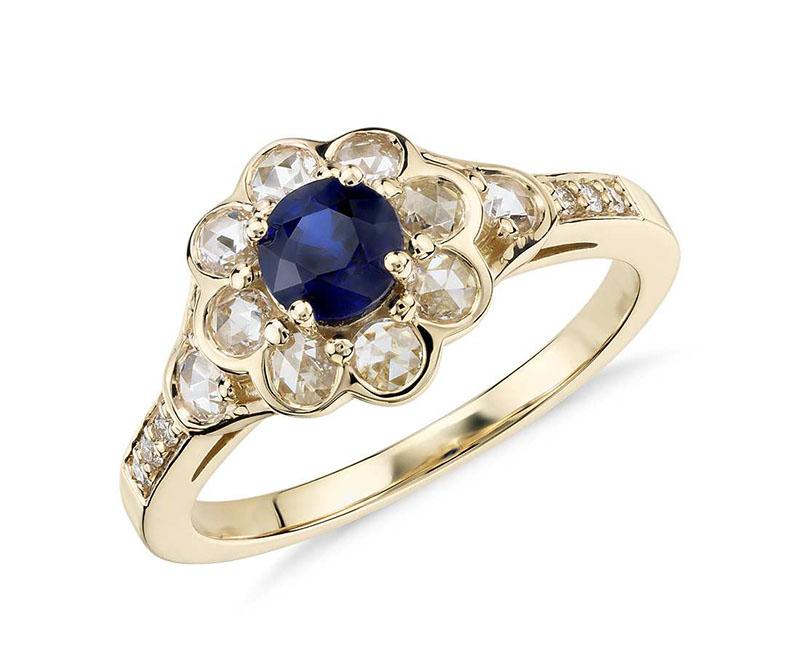 انگشتر جواهر آبکاری شده