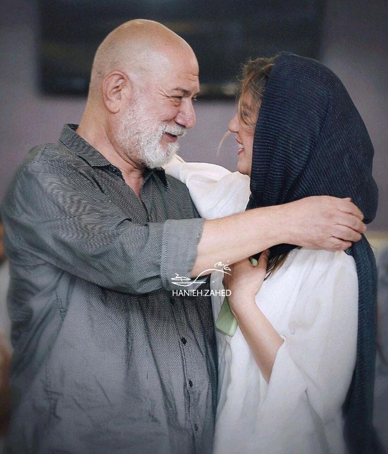 لحظه زیبای پدر و دختری آتیلا پسیانی و ستارهاش