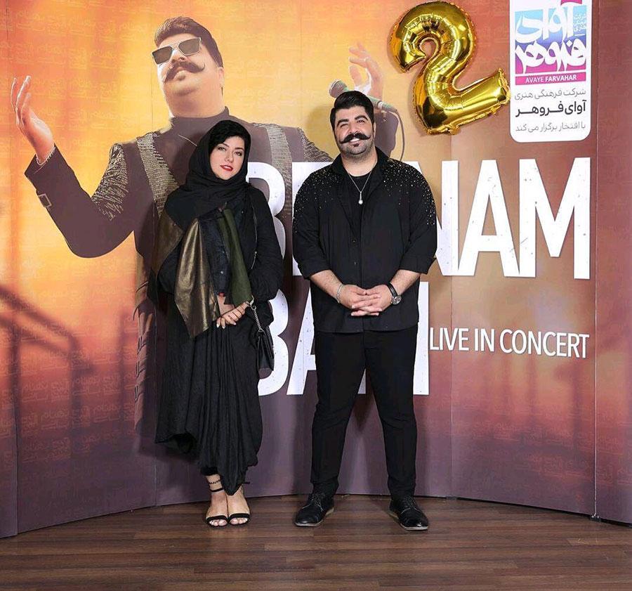همسر شهاب حسینی در کنسرت بهنام بانی
