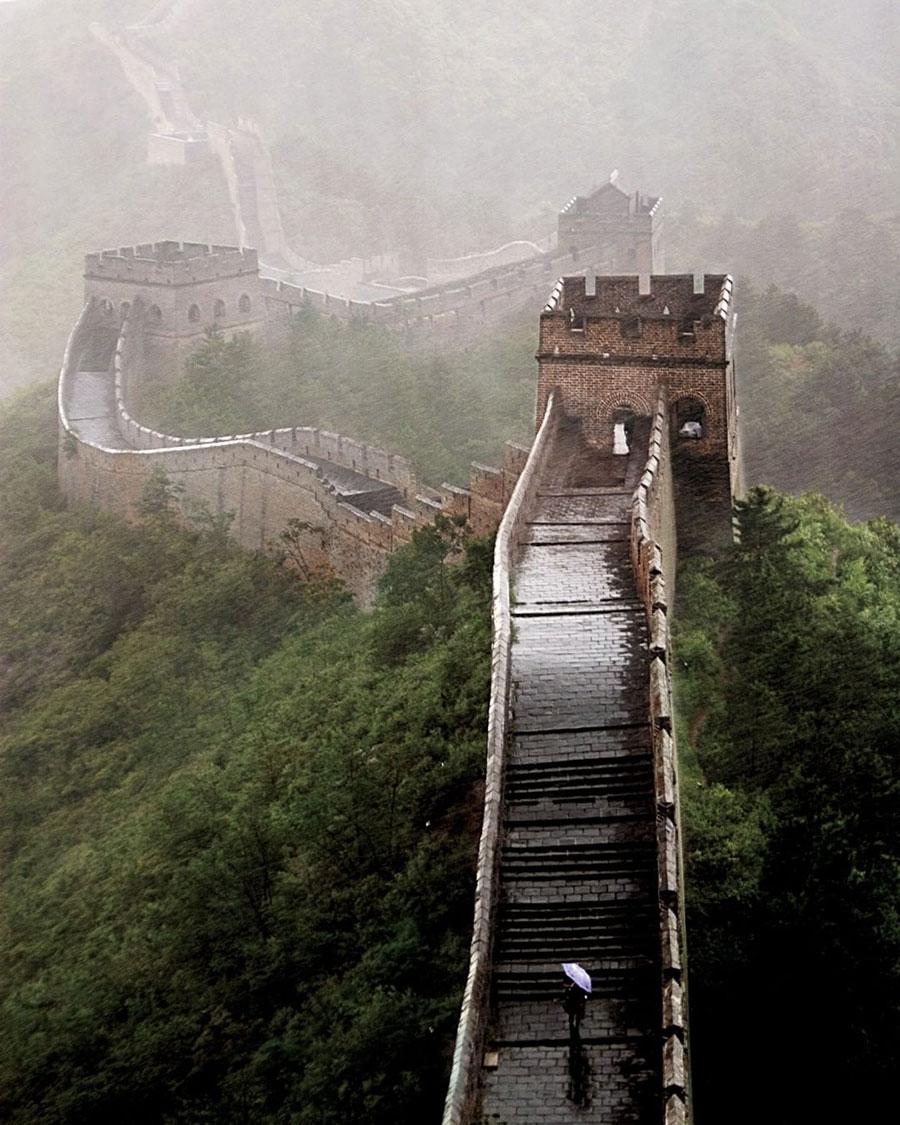 باران دیوار بزرگ چین