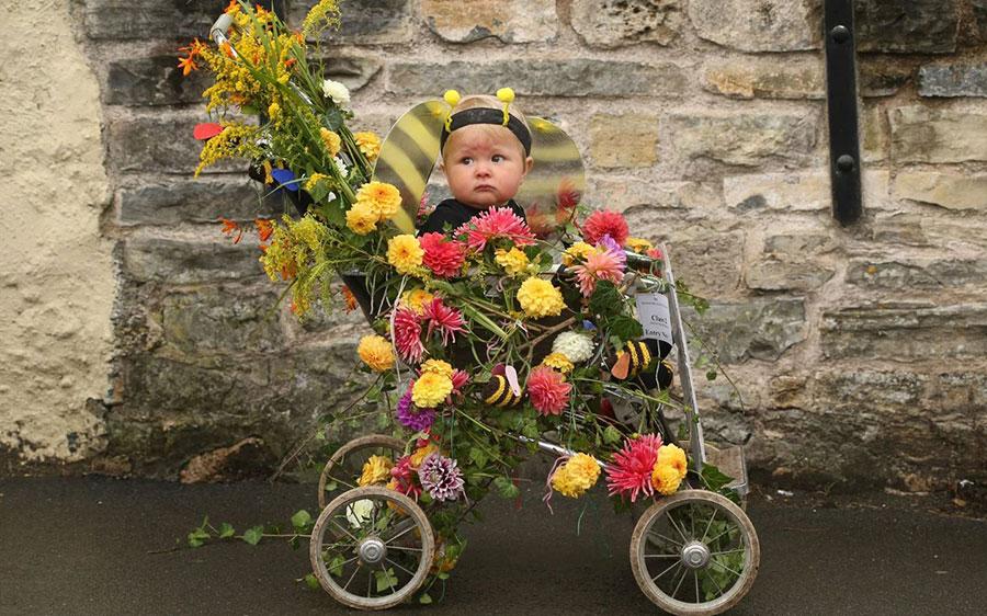 کودکی در حصار گل ها