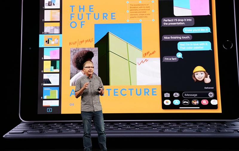 گرگ جوز در حال معرفی هفتمین نسل iPad با نسخه جدید سیستم عامل iPadOS