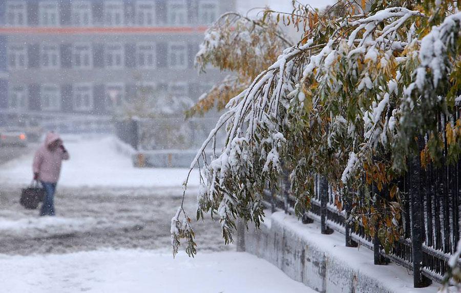 بارش برف در روسیه