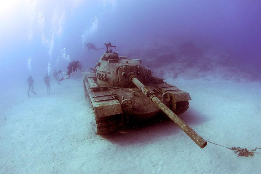 تانکی باقیمانده از سال 1960 در استان آنتالیا ترکیه