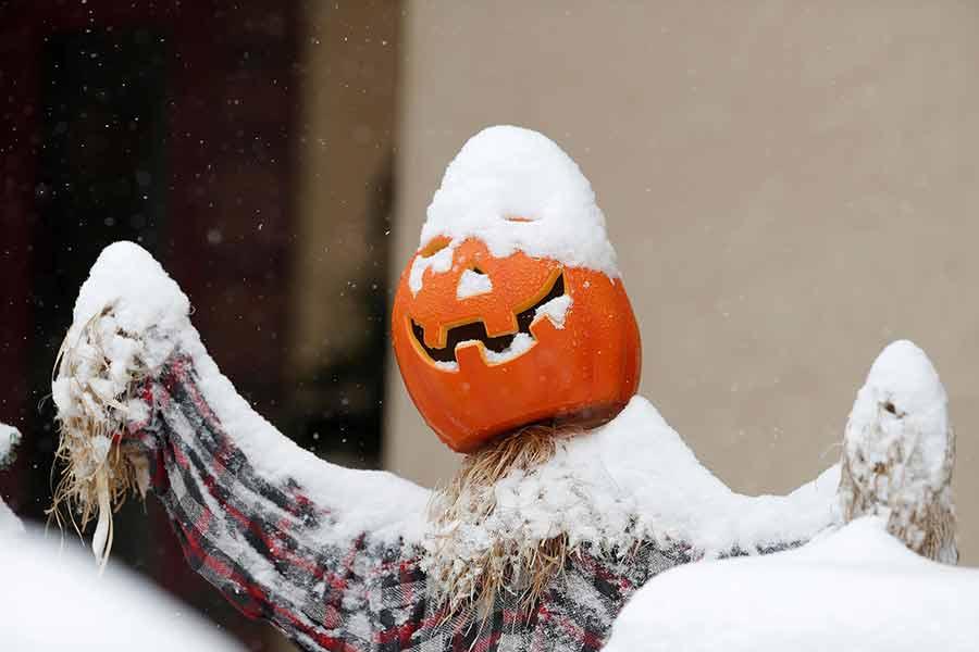 بارش اولین برف سال در شهر دنور آمریکا
