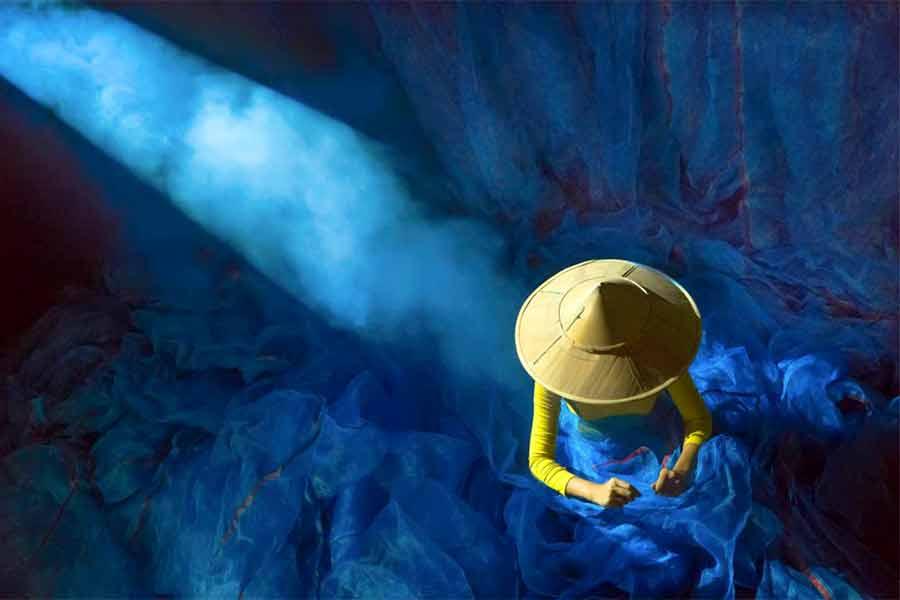 زندگی در رنگ آبی
