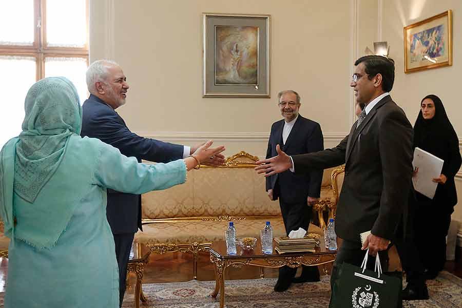 دیدار خداحافظی سفیر پاکستان با ظریف