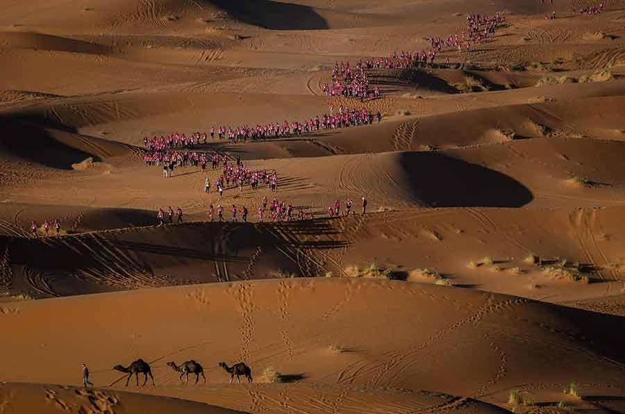 مسابقات بینالمللی صحرانوردی زنان در صحرای جنوبی مراکش