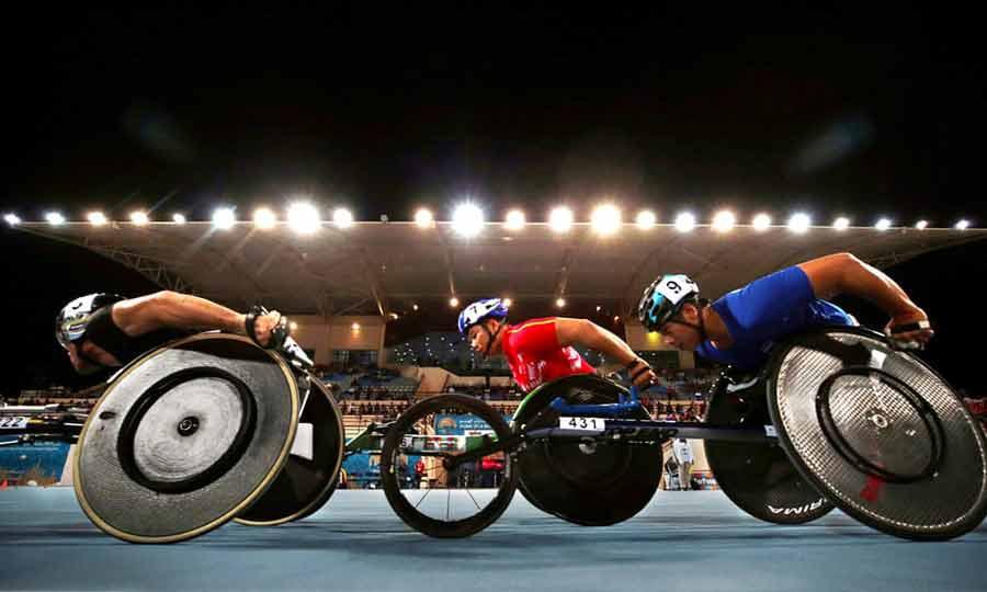 مسابقات جهانی پارا دومیدانی رشته 5 هزار متر مردان در شهر دوبی