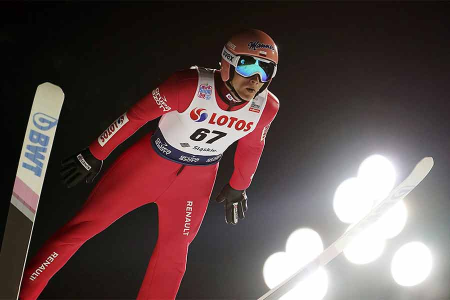 داوید کوباکی لهستانی در جام جهانی پرش اسکی در ویسلا، لهستان
