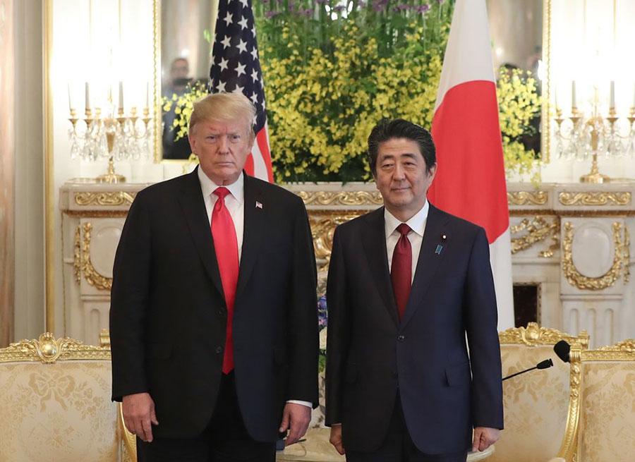 گفتوگوی ترامپ و آبه پس از سفر روحانی به ژاپن - Trump and Abe talk after a Rouhani visit to Japan