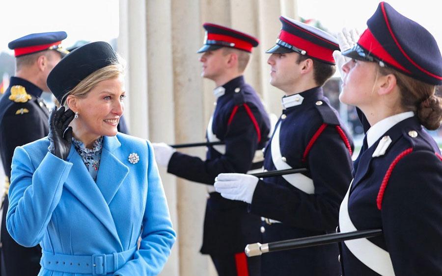 عروس ملکه انگلیس در یک آکادمی نظامی