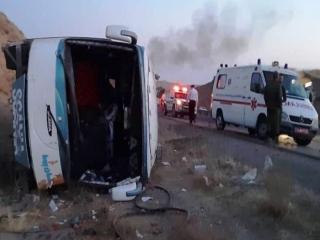 واژگونی مرگبار اتوبوس «مشهد _ بندرعباس» در بردسیر کرمان با 7 کشته