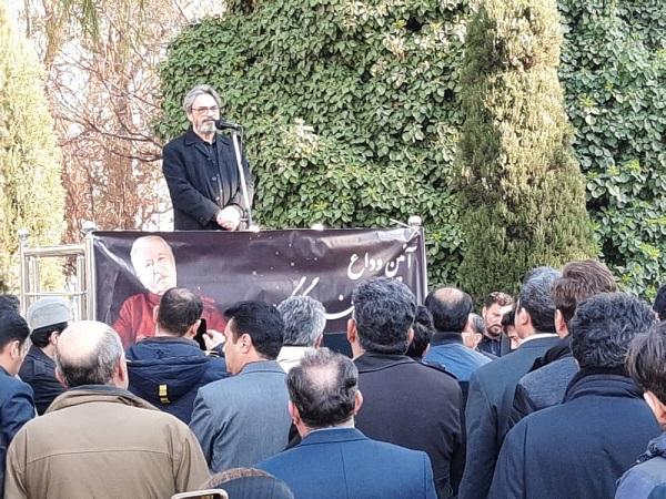 حسین علیزاده در مراسم ختم فرود گرگین پور