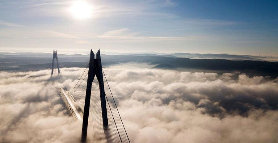 نمایی از پل سلطان سلیم استانبول ترکیه