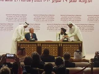 توافقنامه صلح بین آمریکا و طالبان امضا شد