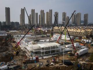 ساخت بیمارستان 1000 تختخوابی در چین پایان یافت