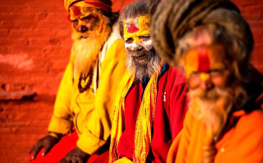 هندوهای معبدی در کاتماندو نپال