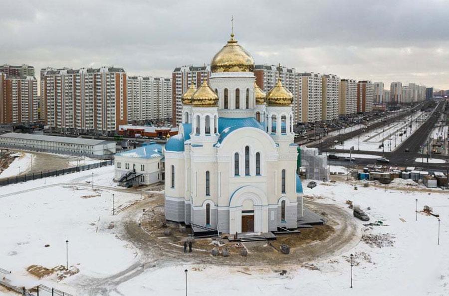 کلیسایی در حال ساخت در مسکو