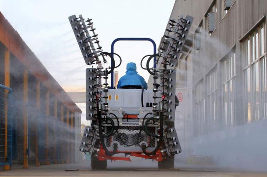 ماشینهای ضدعفونی کننده ویروس کرونا در شاندونگ چین