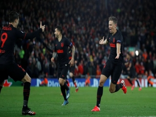 لیگ قهرمانان اروپا ؛ لیورپول 2 - 3 اتلتیکو مادرید ؛ حذف مدافع عنوان قهرمانی !
