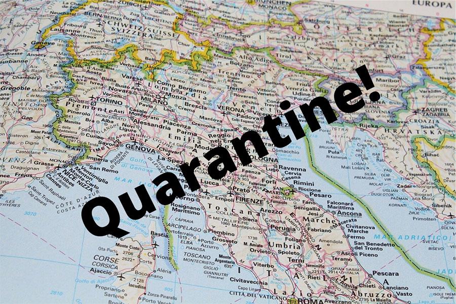 تمام کشور ایتالیا قرنطینه شد - The whole country of Italy was quarantined