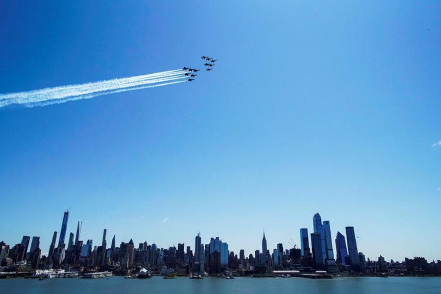 نمایش هوایی بر فراز نیویورک
