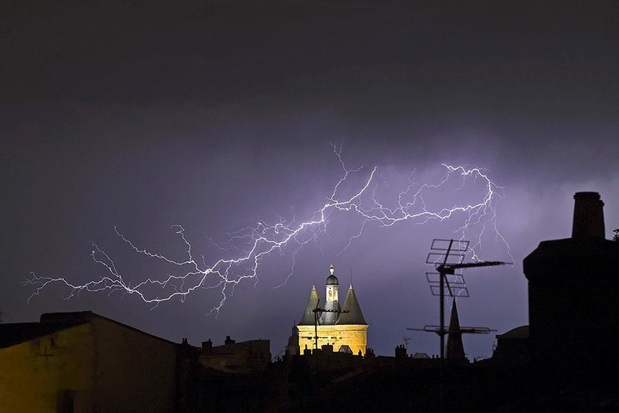 طوفان در بوردو، فرانسه