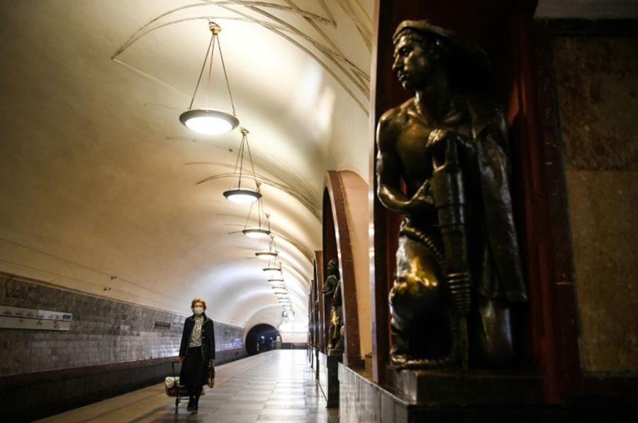 روزهای خلوت مترو شهر مسکو