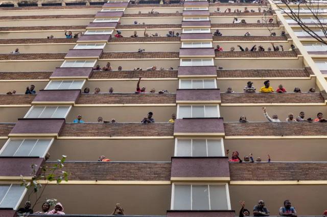 قرنطینه خانگی در شهر ژوهانسبورگ آفریقای جنوبی