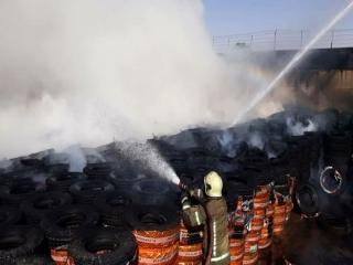 آتش سوزی در بارانداز کالای خیابان شهید رجایی تهران