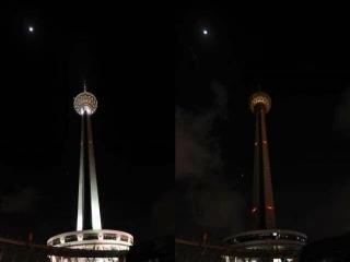 برج میلاد در شب رحلت امام خمینی یک ساعت خاموش می شود
