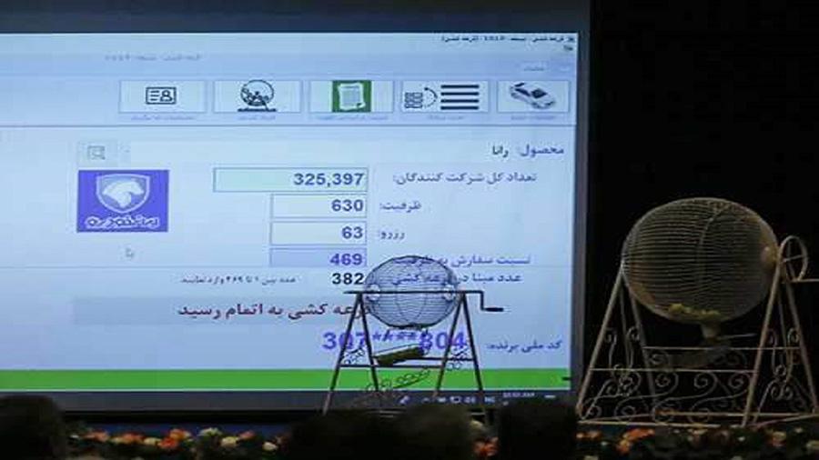 نتایج قرعه کشی پیش فروش ایران خودرو اعلام شد - The results of Iran Khodro's pre-sale raffle were announced