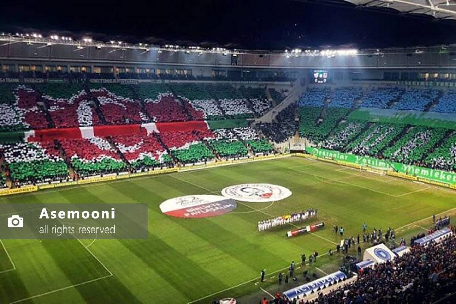 استادیوم فوتبال و هواداران