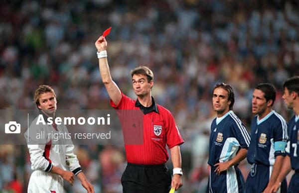 تیم انگلیس و آرژانتین در جام جهانی 1998