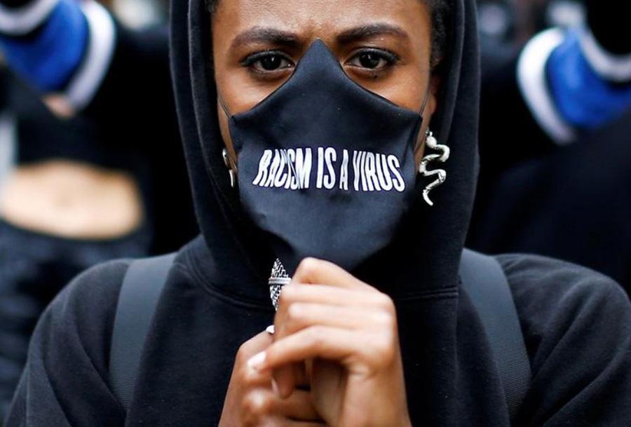 تظاهرات حامیان جنبش جان سیاهان مهم است در شهر لندن