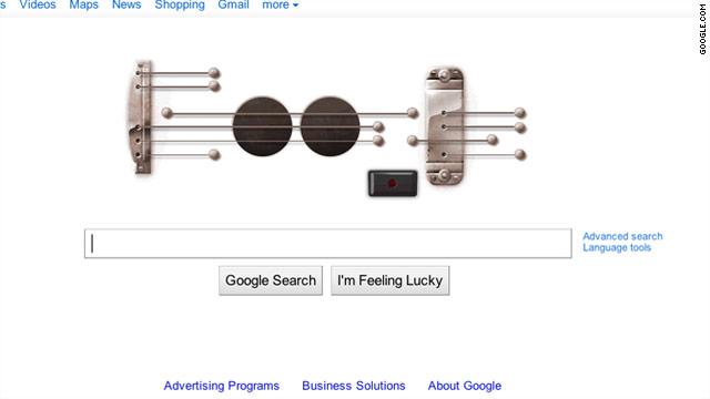 نواختن گیتار در گوگل