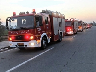 آتش سوزی چند سوله در شهرک صنعتی جاجرود