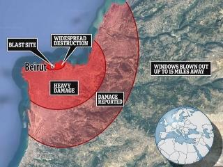استاندار بیروت: نیمی از شهر در اثر انفجار دیروز آسیب دیده است
